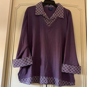 3/4 sleeve shirt with collar